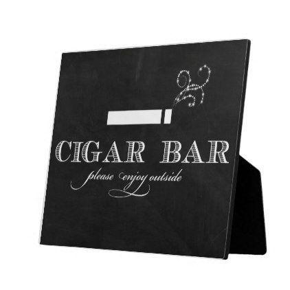 #wedding - #Cigar Bar Sign Table Easel Plaque