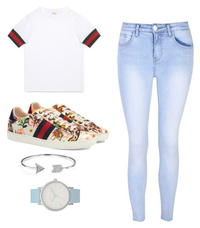 """""""CUCCI💓"""" by elinaelina-1 ❤ liked on Polyvore featuring The Horse, Gucci, Glamorous and Bling Jewelry"""