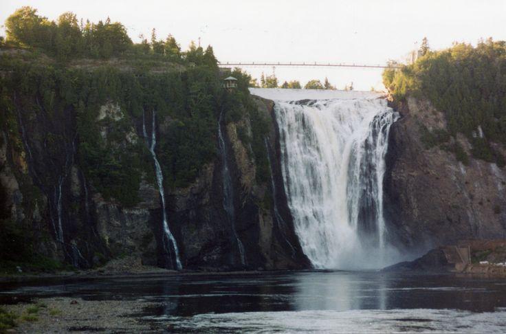 Montmorency Falls in Quebec