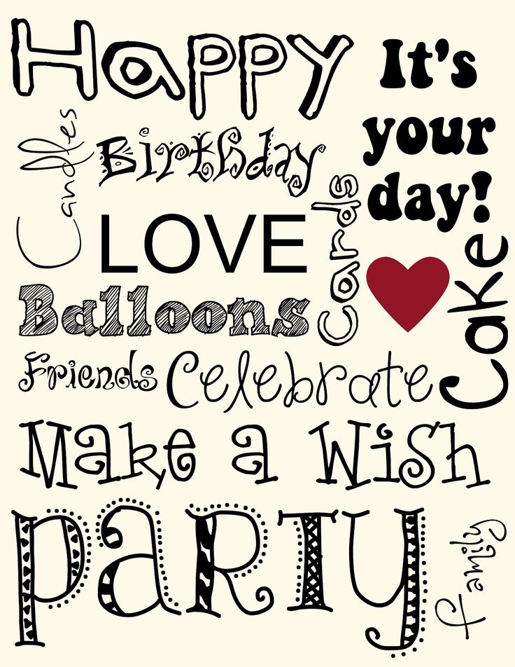 Happy Birthday Subway Art using Stampin' Up! MDS2