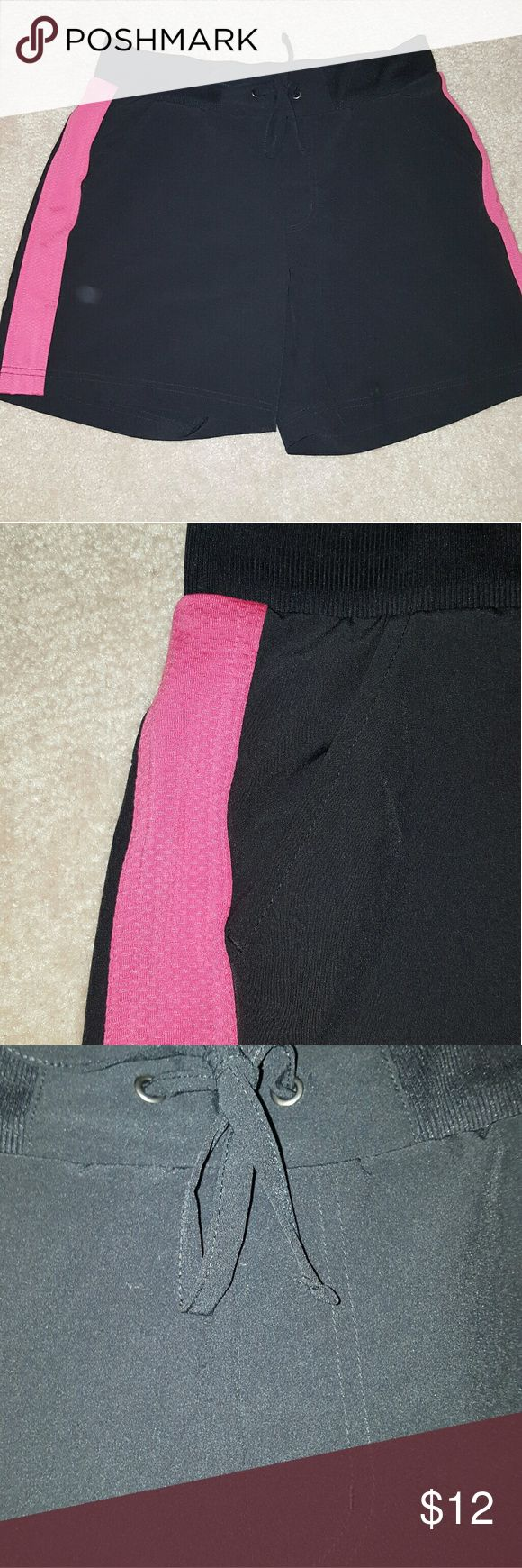 Ladies sports shorts Ladies running /sport shorts. Silky breathable fabric. Elastic wait with drawstring. Two front pockets  excellent condition tek gear Shorts Bermudas