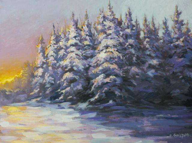 Easy Acrylic Painting winter | wintercolors
