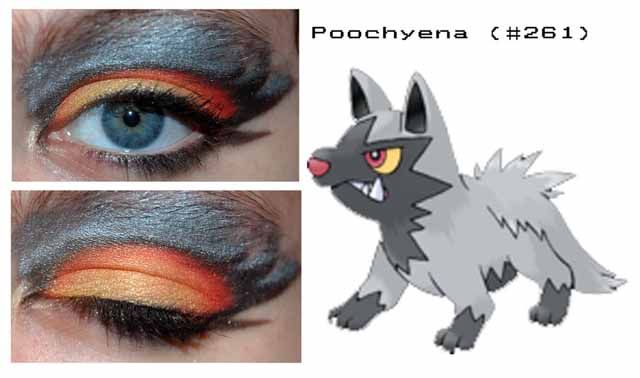PACROID: Pokemon Eyeshadow Designs (I was never a fan of Pokemon, but these are awesome)