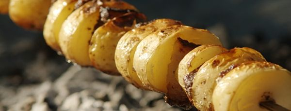 Brochettes de Pommes de Terre Grelots Cajuns