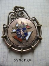 Victorian Knights Of Columbus Enameled Fob Charm