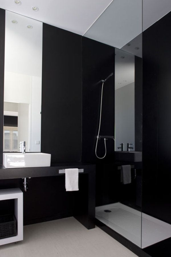 Best Black And White Bathrooms Images On Pinterest Bathroom