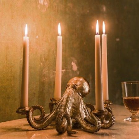 Octopus Candlestick - View All - Christmas Home - Christmas