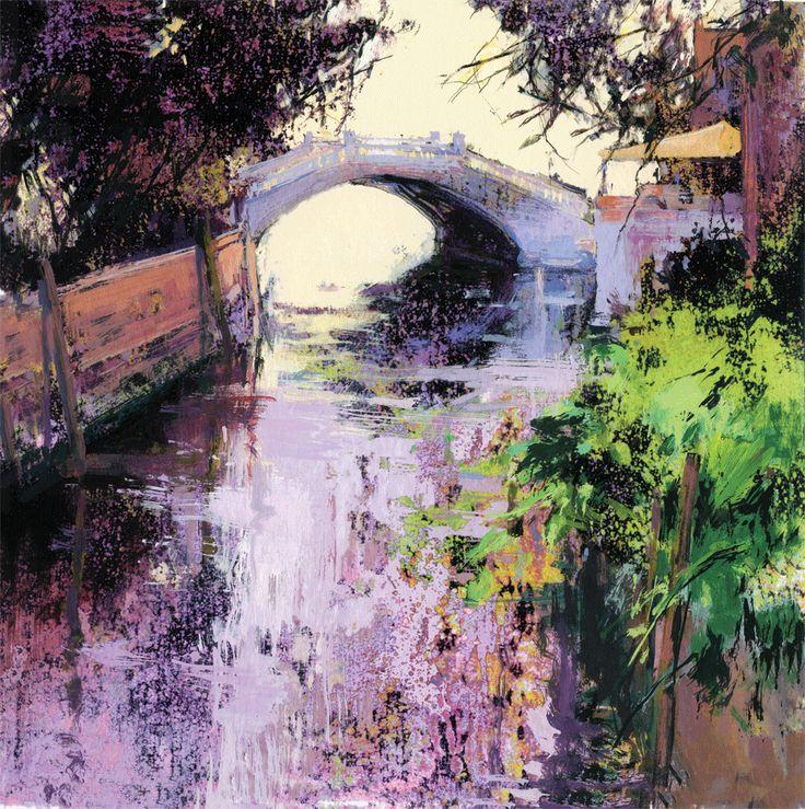 """""""Puente en Castello""""50x50cm.M.Teresa Martin-Vivaldi"""