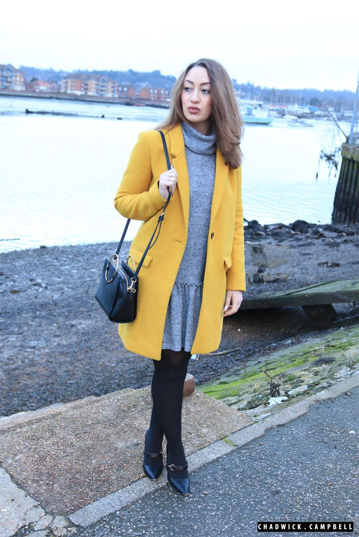 Lauras Lookbook  Coat - Zara Pephem Dress - Riverisland Bag - Zara Shoes - Asos  Fashion, Beauty, Blogger, Vlogger, YouTube, Fashion Trend, Instagram, Southampton
