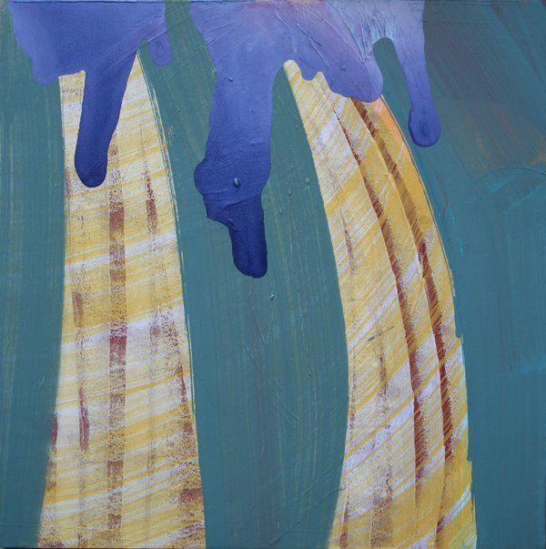 """""""Eruption"""", 50 x 50 cm, acrylic on canvas, ©Marco Kaufmann 2009"""