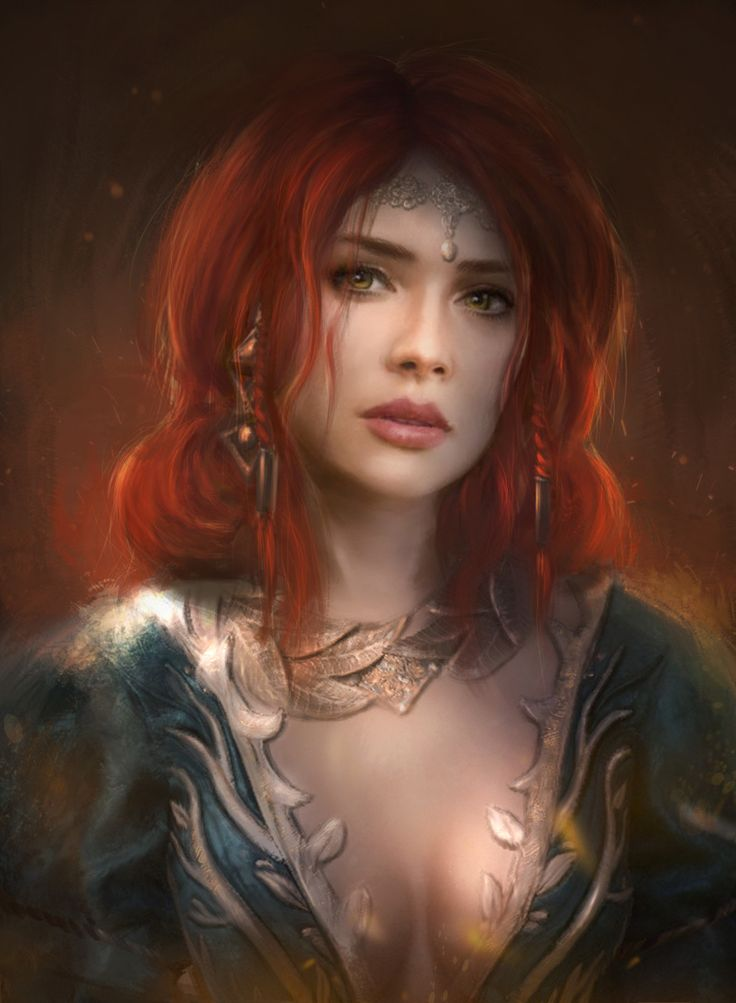 Triss Merigold, Tatiana Hordiienko on ArtStation at https://www.artstation.com/artwork/l85ok