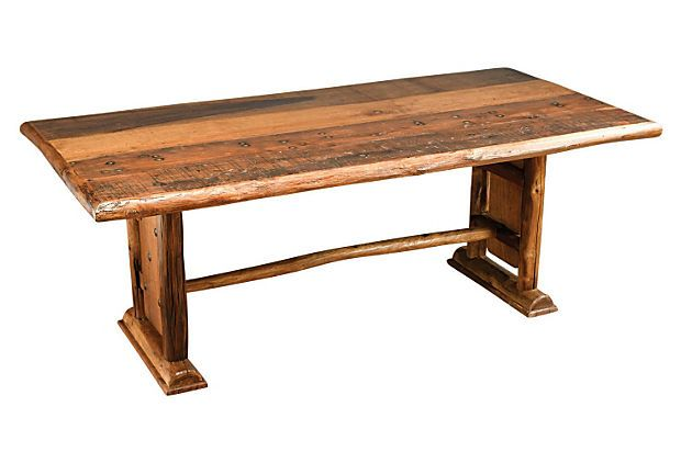 Log Dining Table Honey On