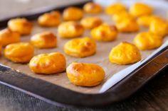 skinnymixer's Cheesy Pumpkin Puffs Thermomix Lunchbox Gluten Free