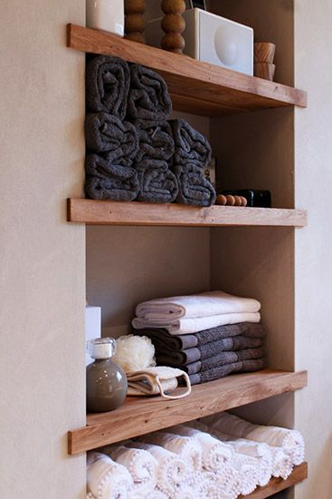 calming soothing colors..  esp. like the unique black/slate color.  7 CHIC SMALL-SPACE STORAGE SOLUTIONS Don't let a lack of space rule your life! Take charge and get organized with these remedies for overcrowded spaces.