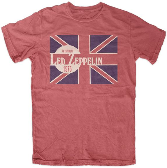 Vintage Band Tee - Led Zeppelin Shirt - Vintage Style 1975 Graphic - Cool! - http://www.band-tees.com/store/LZ1160%21FEA/Led+Zeppelin+Evening+of+1975