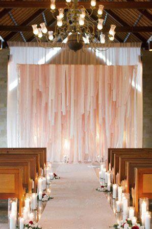 Romantic Ceremony Decoration Ideas, ribbon backdrop
