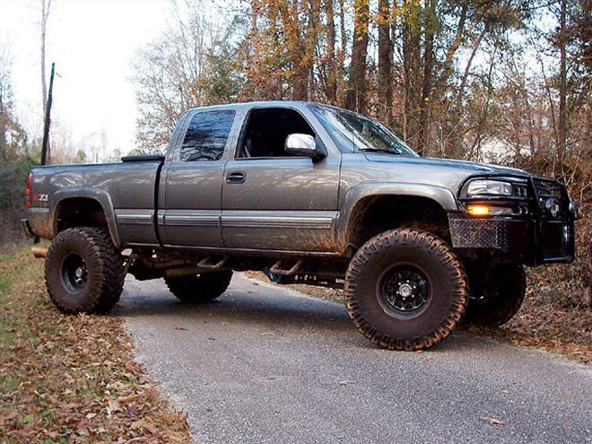 Image result for dirty lifted chevy silverado