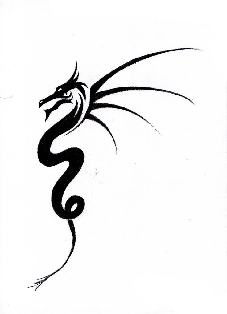 Simple tribal dragon pictures to pin on pinterest page 5 for Simple tribal tattoo