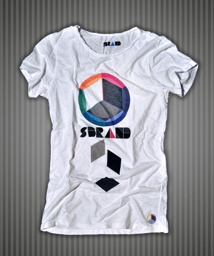 Idee Regalo e Kit : Maglietta bianca cotone fiammato uomo Sbrand