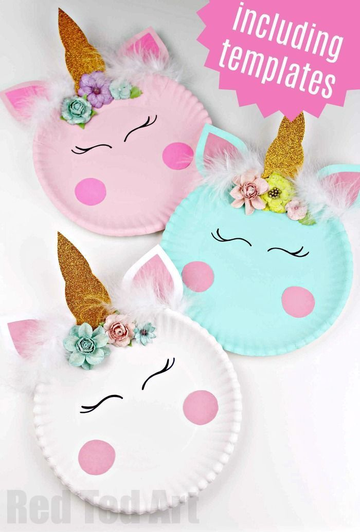 Paper Plate Unicorn Craft For Preschool Red Ted Art Make Crafting With Kids Easy Fun Preschool Crafts Unicorn Crafts Unicorn Paper Plates