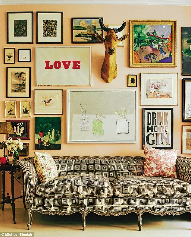 Rita believes a home takes time to come together. 'I bought this sofa in Atlanta, but had ...