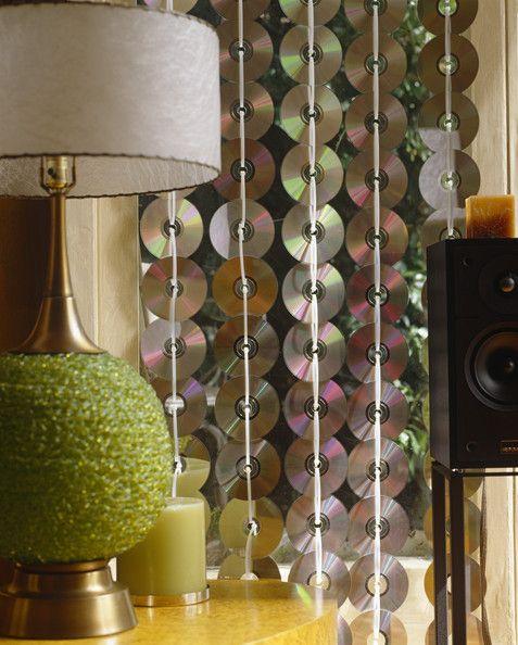 Hang CD's as a wall art or a divider