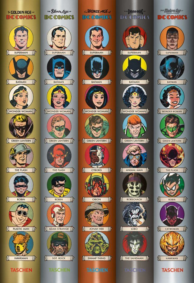 Taschen's 'Golden Age of DC Comics' Explores Superhero History - Hollywood Reporter. cover icons,