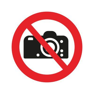 Fotografering Forbudt Forbudsskilte i ISO 7010 - Køb her
