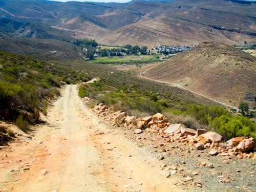 The pass down to Wuppertal Cederberg