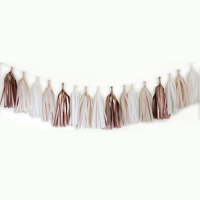DIY Tissue Tassle Garland - Rose – My Messy Room
