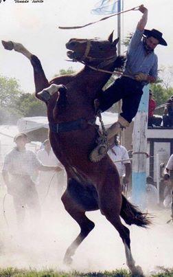 Es Jineteada en Argentina. Se puede montar a caballo durante el tiempo que sea posible.