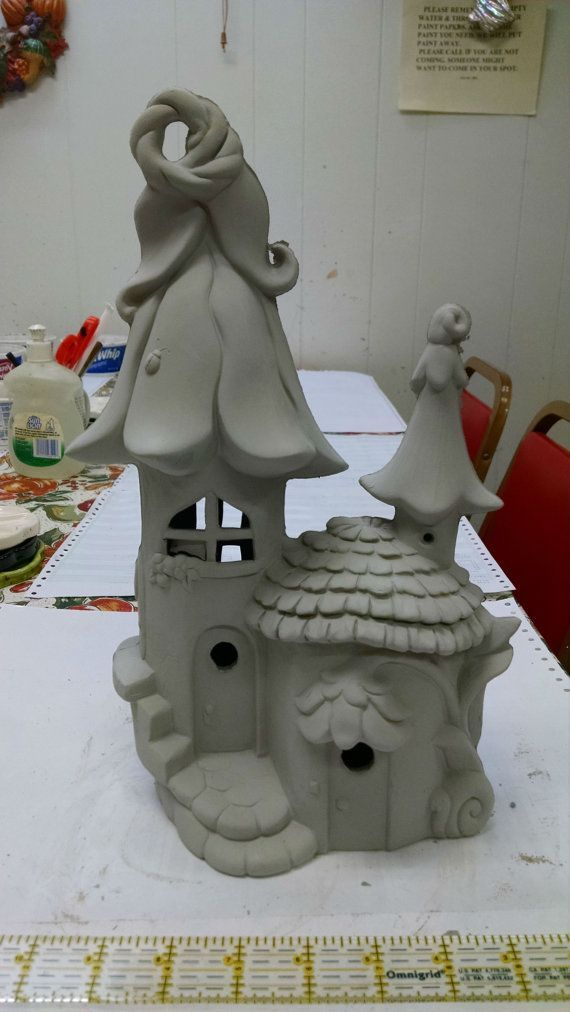Elf or Fairy House and home unpainted ceramic bisque ready to paint DIY #250 - http://home-painting.info/elf-or-fairy-house-and-home-unpainted-ceramic-bisque-ready-to-paint-diy-250/