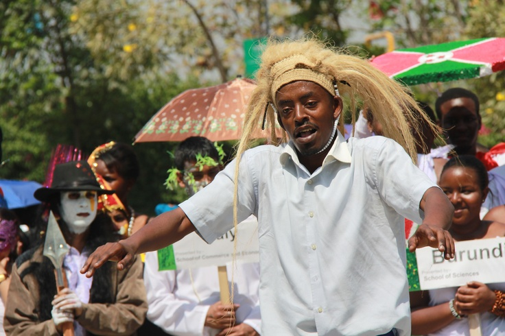 Student of Brundi looks jubiliant during procession in One World at LPU