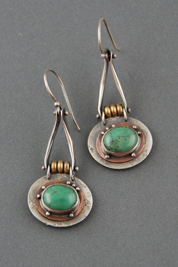 Suspended Turquoise Earrings by MaggieJs