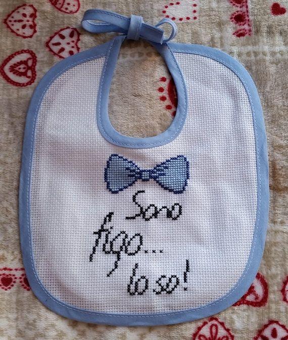 Bavaglino Azzurro Bambino Papillon di FiloAgoFantasia su Etsy