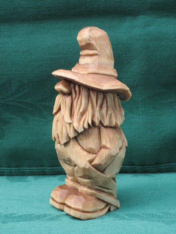 Hand Carved Rufus the Moonshiner Wood Carving by RWKWoodcarving
