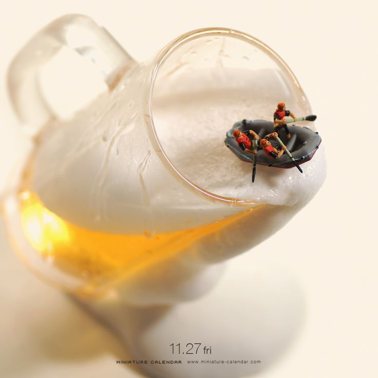 Rafting From Tanaka Tatsuya's miniature calendar