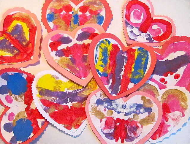 brilliant old school blotto painted valentines for preschoolers. This may be the winner at our house.