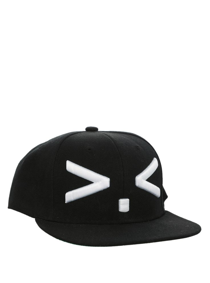 Squint Emoticon Snapback Cap | Hot Topic