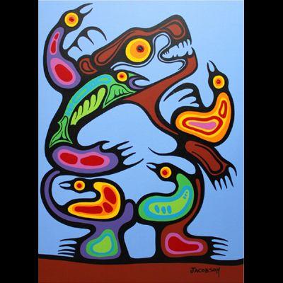 "Mark Anthony Jacobson, Inuit artist, ""Bear Medicine Healing"""