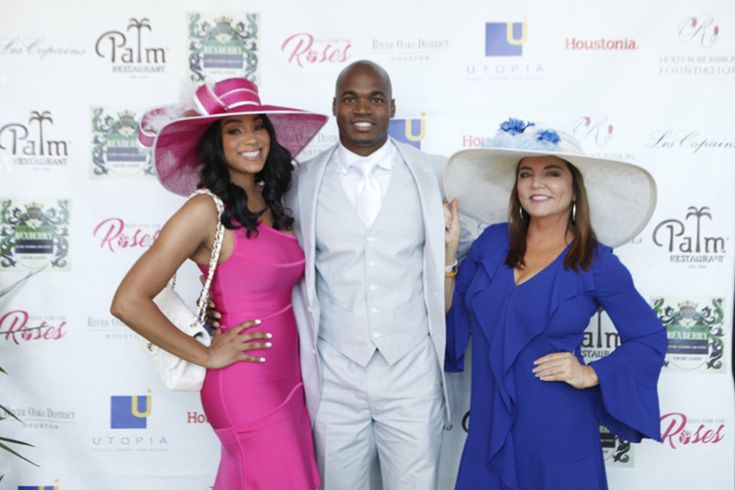 Ashley Peterson, Adrian Peterson, & Beth Cassidy - 10th Annual Kentucky Derby Viewing Party | Houstonia