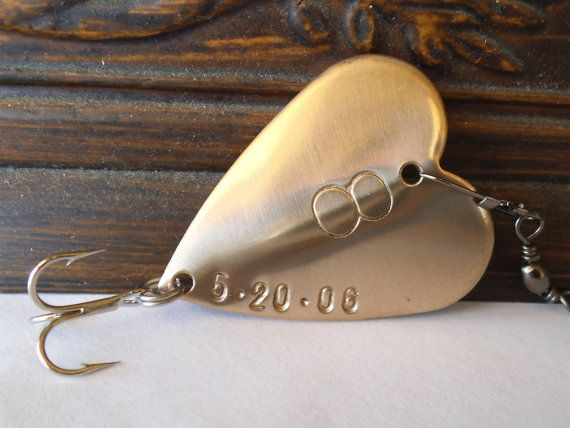 Eighth Bronze Anniversary Gift 8th Wedding by CandTCustomLures, $23.00