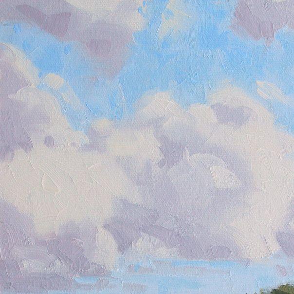 A Field of Clouds 10 x 8 Inch Original by VanDerHoekArt on Etsy