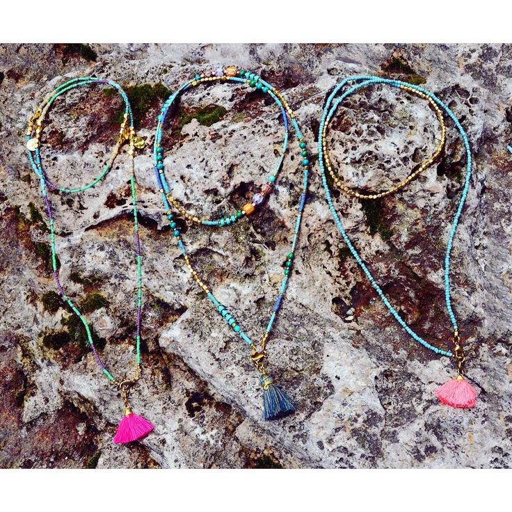 Tribal treasures   traditional beaded necklace szputnyik turquoise jewelry handmade