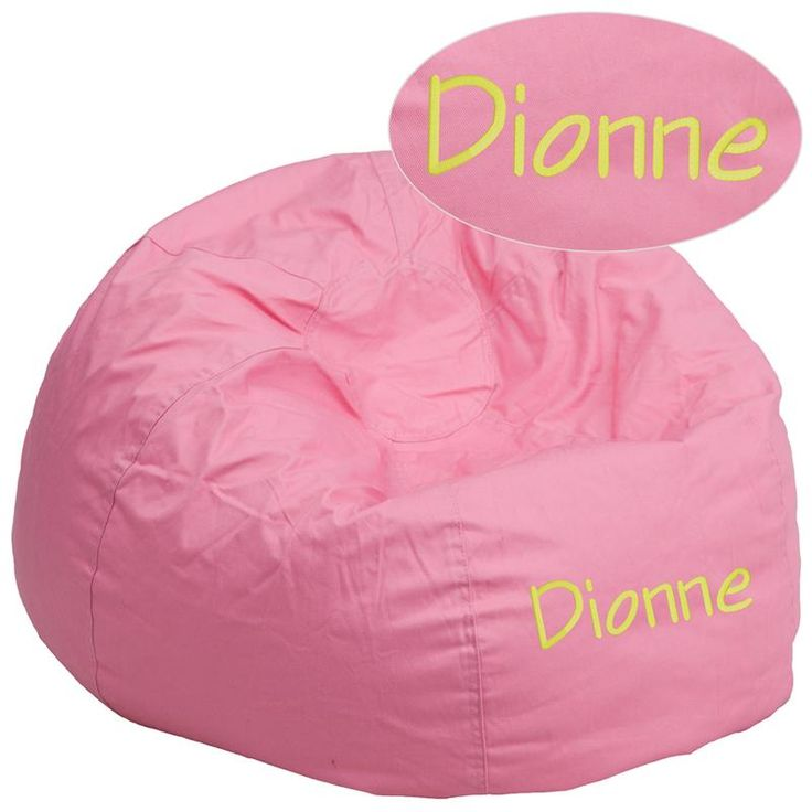 Personalized Pink Bean Bag WL-01497-FF