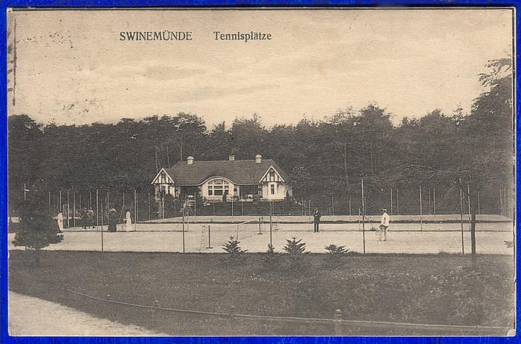 SWINEMÜNDE TENNISPLÄTZE STETTIN 1922