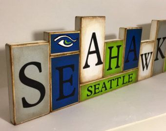 Seahawks Sign Wildcats Word Blocks Seattle by GuidingPrintables