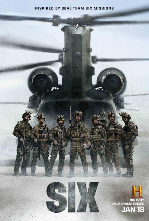 Walton Goggins, Edwin Hodge, Juan Pablo Raba, Kyle Schmid, Jaylen Moore, Barry Sloane, and Dominic Adams in Six: Pilot (2017)