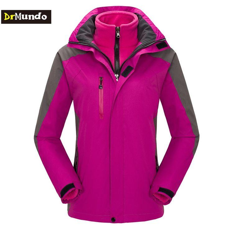 78.99$  Watch now - http://alij5o.worldwells.pw/go.php?t=32763467441 - DrMundo Plus Size ski jacket women fleece windstopper snowboard jacket Mountain snow jackets waterproof hiking ski suit  78.99$