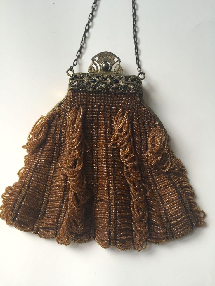 antique glass beaded purse beaded